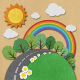 Summer view recycled paper background. Stock Photo