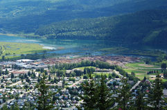 Summer view of revelstoke town Stock Photography