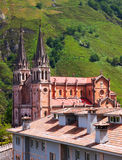 Summer view of Sanctuary of Covadonga Royalty Free Stock Photos