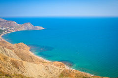 Summer view of the sea and mountain range Royalty Free Stock Photography