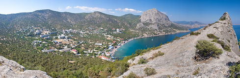 Summer view seacoast. The Crimea, Ukraine Stock Image