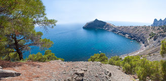Summer view seacoast. The Crimea, Ukraine Royalty Free Stock Images