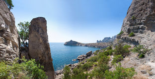 Summer view seacoast. The Crimea, Ukraine Stock Image