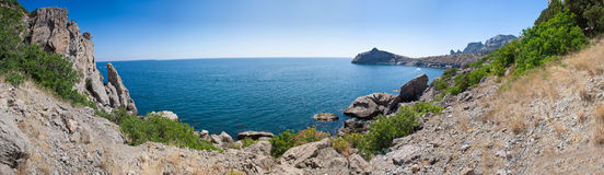 Summer view seacoast. The Crimea, Ukraine Royalty Free Stock Photo