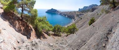 Summer view seacoast. The Crimea, Ukraine Stock Photo