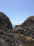 Summer view seacoast. Warm sea and beautiful nature. Black Sea, Crimea Stock Photo