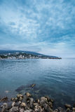 Summer view seacoast. Yalta, Black Sea, Ukraine Royalty Free Stock Photos