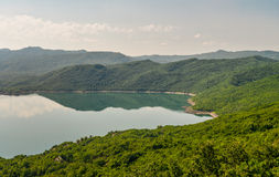 Summer view of the Slansko Lake. With islands near Niksic town, Montenegro Stock Photography