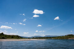 Summer view. From Snake River, Grand Teton National Park Royalty Free Stock Image
