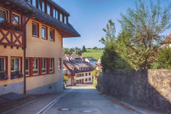 Summer view in South Germany village Royalty Free Stock Photography