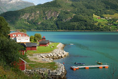 Summer view of Southern Norway Stock Photography