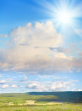 Summer view of steppe. Stock Image