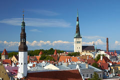 Summer view of Tallinn, Estonia Royalty Free Stock Images