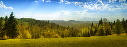 Summer view of the Tatra Mountains Stock Photo