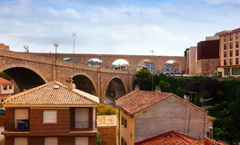 Summer view of Teruel with Bridge Stock Image