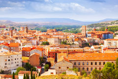 Summer view of Teruel with  landmarks.  Aragon Royalty Free Stock Photo
