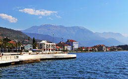 Summer view of Tivat town Stock Photos