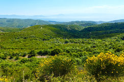 Summer view from top of the hill (Greece) Stock Image