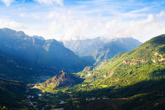 Summer view of valley at Pyrenees. Huesca Stock Images