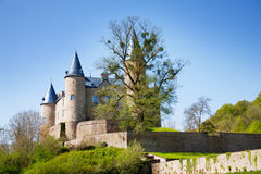 Summer view of Veves Castle during day Stock Photography