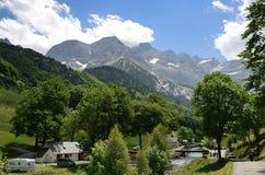 Summer view of the village Gavarnie Stock Photos