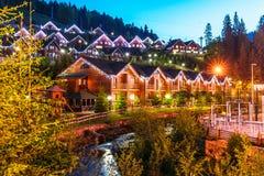 Summer view of winter ski resort Bukovel, Ukraine Stock Images