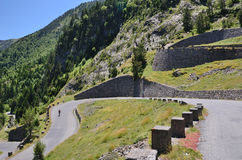 Free Summer View With Mountain Road In Pyrenees Royalty Free Stock Photos - 33761038