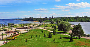 Summer view of Yaroslavl city park Stock Images