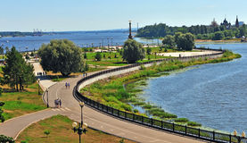 Summer view of Yaroslavl city park Stock Photo