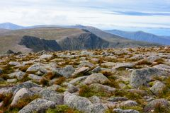Cairn Gorm Mountain summit in the Cairngorm National Park Stock Photo