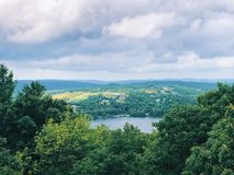 Summer Views from Mount Tom State Park tower. In the towns of Washington, Litchfield, and Morris, Connecticut United States stock photo