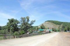 Summer village landscape Stock Images