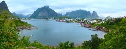 Summer village Reine (Lofoten, Norway). Royalty Free Stock Image