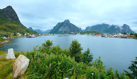 Summer village Reine (Lofoten, Norway). Royalty Free Stock Photo