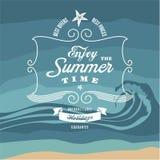 Summer vintage background. Holidays banner. Summer vintage background. Holidays vector banner stock illustration