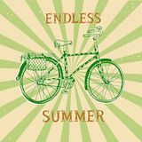 Summer vintage city bicycle Stock Photo