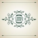 Summer vintage design Royalty Free Stock Images