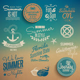 Summer vintage elements Stock Photo