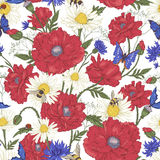 Summer Vintage Floral Seamless Pattern with Royalty Free Stock Photo