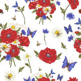 Summer Vintage Floral Seamless Pattern with Stock Photo