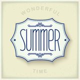 Summer vintage plate Stock Photography