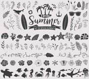 Summer vintage silhouettes Royalty Free Stock Images