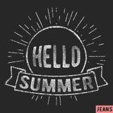 Summer vintage stamp. T-shirt print design. Summer vintage stamp. Printing and badge applique label t-shirts, jeans, casual wear. Vector illustration Royalty Free Stock Image