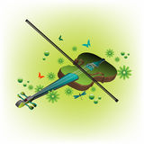 Summer violin Royalty Free Stock Photography
