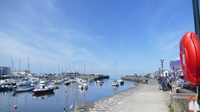Newquay   Harbour in wales uk Royalty Free Stock Image