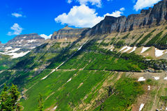 Summer vista, Garden Wall, Glacier National Park Stock Photos