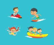 Summer vocation collection Set vector illustration