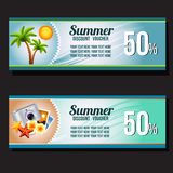 Summer voucher Royalty Free Stock Images