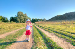 Summer walk Royalty Free Stock Image
