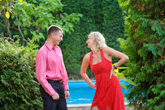 Summer walk in love couple Royalty Free Stock Photos
